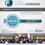 El VII Foro de Capital Humano se realizará en Montevideo en Octubre y hoy puede inscribirse con un arancel único! https://t.co/mNlfZRfHa5