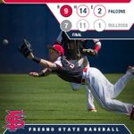 FINAL | Air Force 9, Fresno St. 7  Dogs drop to the loser bracket on Friday at 2 p.m. PT #GoDogs https://t.co/kNIiAYOB6p