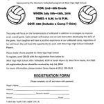 West Vigo Volleyball Camp! Visit https://t.co/4VcA1Ga9T4 to get your registration form that is due by July 1st. https://t.co/s06LG53VCN