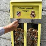 [#Insolite] A Madrid, on invite les passants à voter pour le prochain champion dEurope avec les cigarettes. https://t.co/hcA31xAVjP