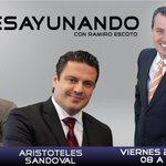 Mañana no te pierdas #Desayunando con @Ramiro_Escoto nos acompaña @AristotelesSD y @JosePalaciosJ https://t.co/2DG5yK59pW