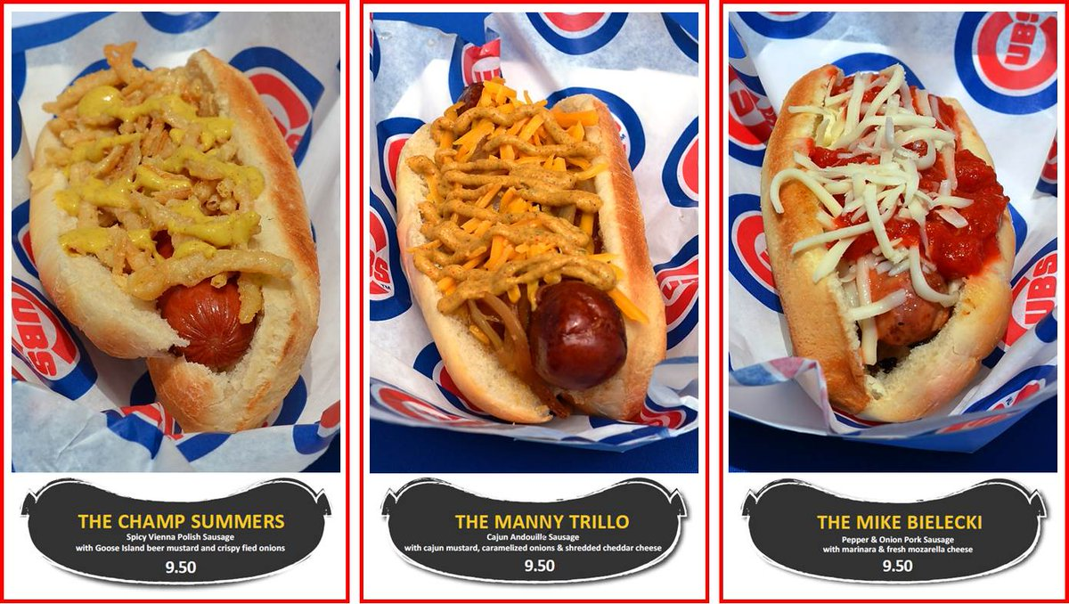 Sneak Preview of this coming homestand's menu. My holiday weekend? CUBS! @Cubs #LetsGo https://t.co/lOnE7Ly8fT