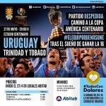 Mañana andá a ver a La Celeste y colaborá con #TodosConDolores. Lindo motivo ir a ver a Uruguay y dar una mano!!! https://t.co/7HaW8Nd4E2