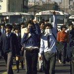 Marcha de estudiantes secundarios por avenida Alameda de Santiago en septiembre de 1985. #MarchaEstudiantil https://t.co/bHeKGZWoaI