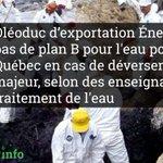 🚫 #ÉnergieEst : pas de plan B pour leau potable en cas de déversement majeur #PolQc #Eau 👉https://t.co/7XD81XFSIK https://t.co/UzqRL7cOiA