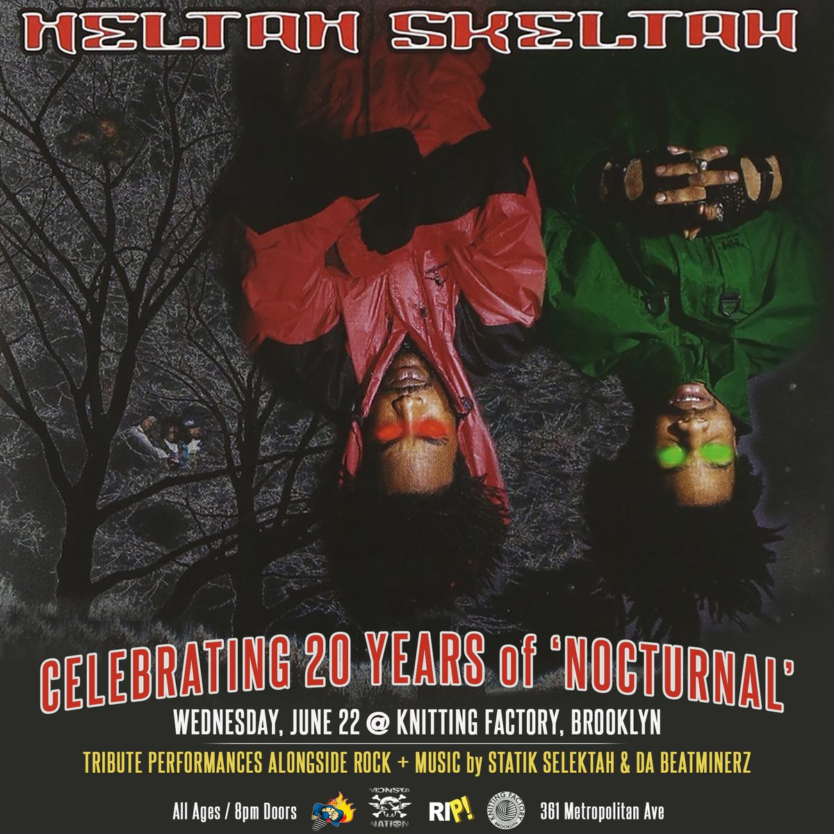 On 6.22- #heltahskeltah 20th anniversary of 'Nocturnal'  @_ROCKNESS_ @SeanPrice https://t.co/lwdO9EC9gY https://t.co/mFIKXRgA0X