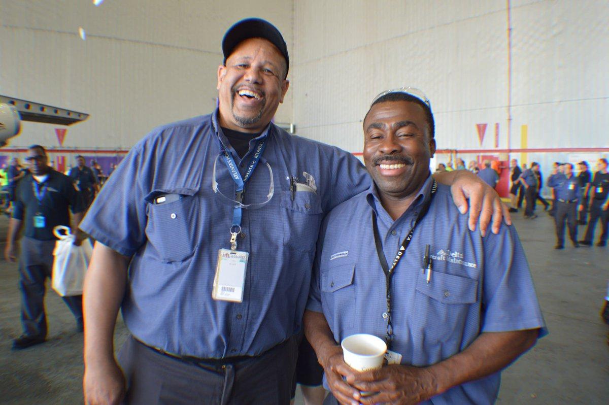 .@DeltaTechOps employees celebrate Aviation Maintenance Technician Day