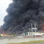 NOW HAPPENING:: Fire and huge plumes of smoke at WISYNCOs distribution center in Lakes Pen St. Catherine https://t.co/kDxRJJ1aNY