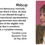 .@CarolineLucas says we over-estimate how democratic the UK is, and yet criticise the EU. #bbcqt https://t.co/RCuFEQbZlN