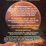Here we go!!! H.O.M.E. By @StarryFinch #HOMECampoSanto #Theatre #SanFrancisco https://t.co/O0hWLn3DWS