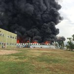 Images from fire at Wisynco warehouse. https://t.co/BCFNW8kG7V