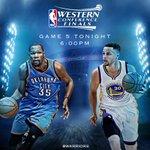 Tonight. Dubs vs Thunder. Game 5. ???? » https://t.co/zj1YzBlWjL https://t.co/ltnT3KnNqR