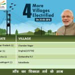 4 villages across 4 States were electrified for the 1st time since Independence on 25th May. #TransformingIndia https://t.co/rEdn7Gfypw