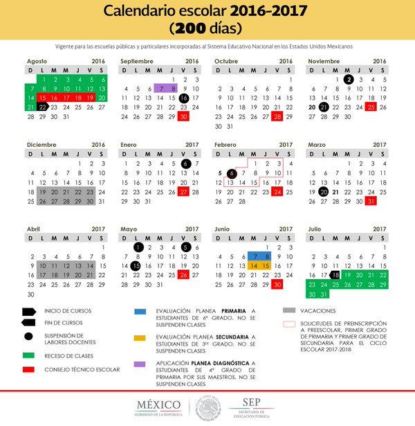 Calendario Escolar 2016 2017 Cdmx Tenencia | New Style for 2016-2017