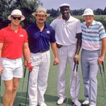 #Chicago icons on the golf course: Jim McMahon, Mike Ditka, Michael Jordan, and Hawk Harrelson. #ChicagoHistory https://t.co/GuKazxqsem