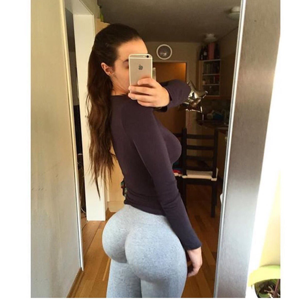 Desirable brunette shows off her nice round butt and firm hooters № 1269256 бесплатно