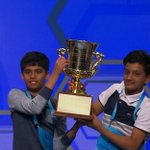 """What a Bee! Nihar """"The Machine"""" Janga AND Jairam Hathwar are your 2016 Scripps #SpellingBee co-champs! https://t.co/ADe2sYhT0i"""