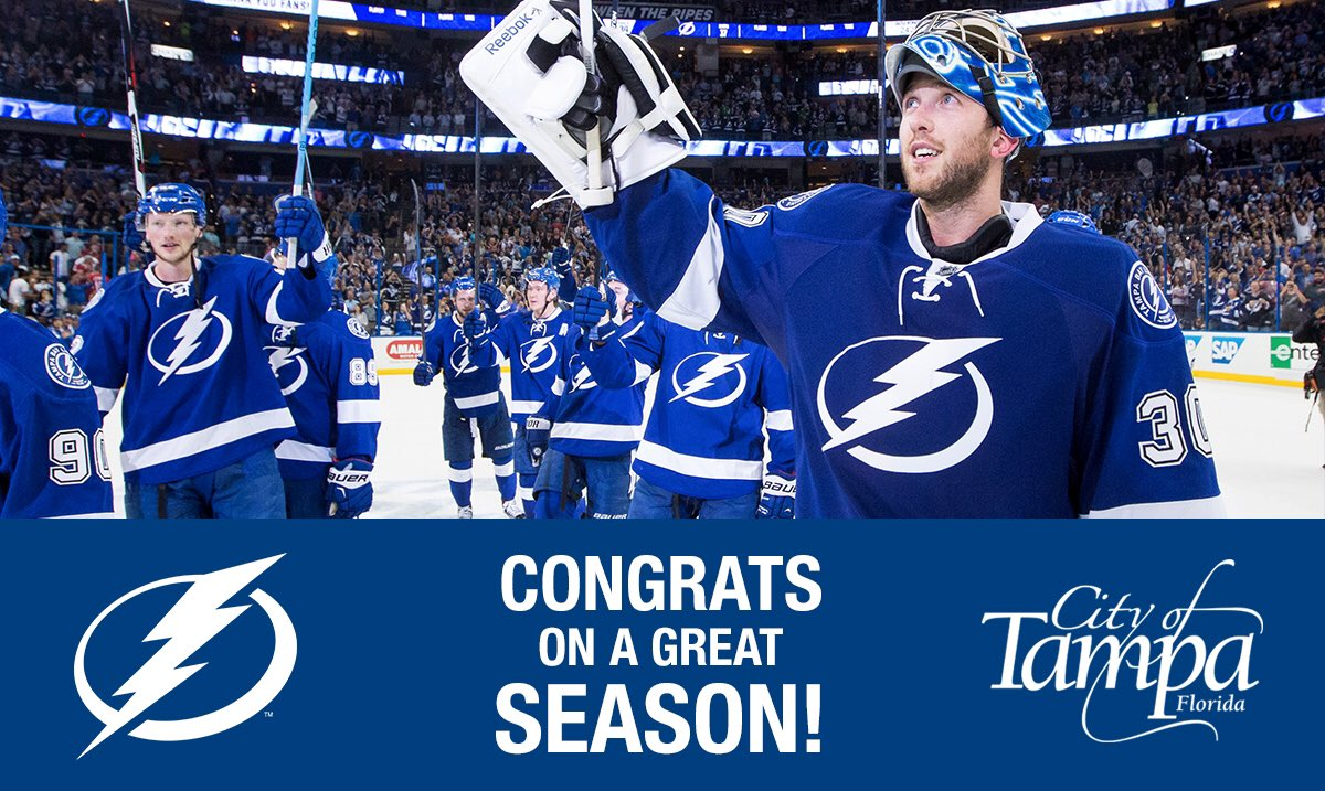 Thank you for a wild & crazy ride, @TBLightning! ⚡️ Once again, you've made #TampaProud!