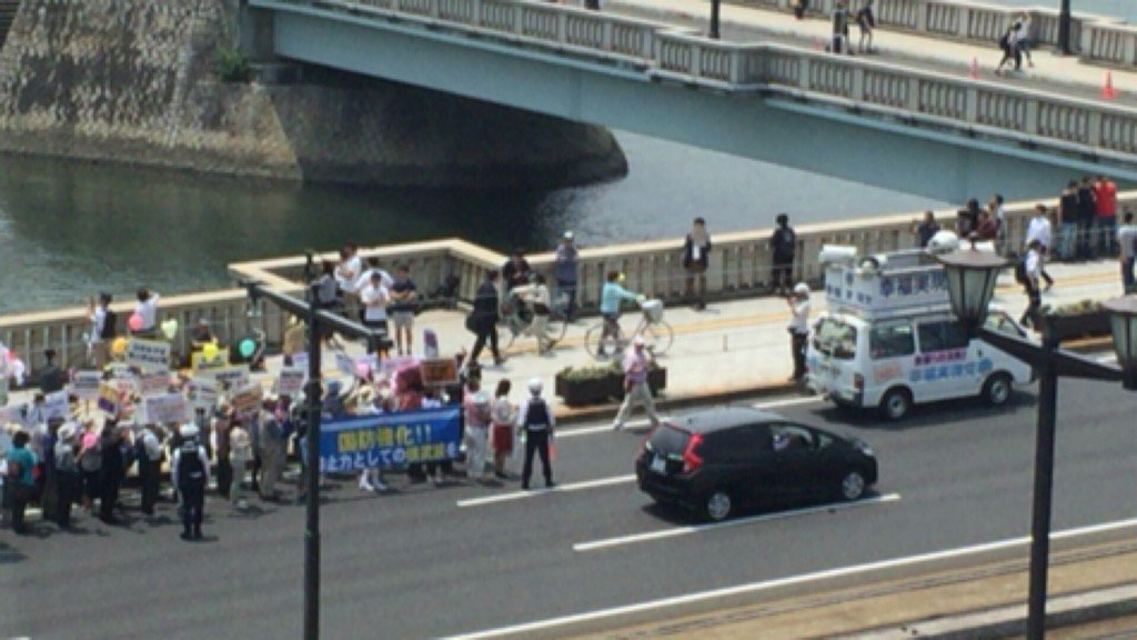 幸福実現党が相生橋で「日本を核武装しよう」と。 https://t.co/KPDz0nYCtJ