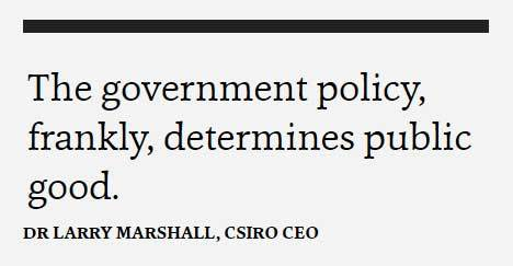 Secret recording obtained from a CSIRO meeting reveals the science agency's CEO's priorities https://t.co/NTYHWkkr9Y https://t.co/lAEqpmQ1T4