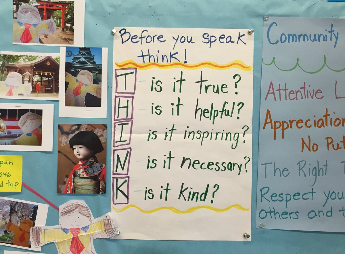 Touring first grade classrooms and I think I've found the content guidelines that will fix Twitter's abuse problem. https://t.co/BMZACbh5Zz