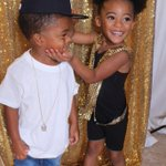 My daughters 3rd birthday party theme was beyonce cause she loves B, with my nephew as Jay Z #slayWithRae #raeyonce https://t.co/2otkdOXga6