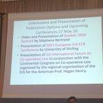 Almeria : prochaines étapes : A noter conférence intl sur lois coopératives @UpGroup @montblancforum @SocialEcoEU https://t.co/yW9WqmtOao