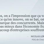 """Conjoncture: ce que pensent des entrepreneurs français du """"ça va mieux de Hollande https://t.co/KrXvLvjz00 #AFP https://t.co/opsaapgnCn"""