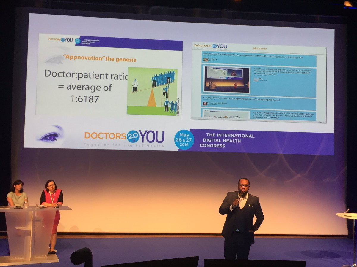 Meanwhile, in Nigeria every doctor has over 6,000 patients! Now there's a need for telehealth #doctors20 @SlkTunde https://t.co/DvbxQ4FdPz