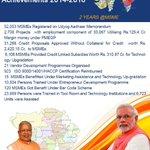 Achievements of @minmsme in #Gujarat in last 2 years, 2014-2016 #TransformingIndia #VikasParv #ScamFree2Yrs https://t.co/hvKASRwYqZ