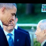 #ObamaInHiroshima now chatting with A-bomb survivor, exchanging smiles https://t.co/1bdLzml8aC