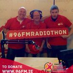 Day 2 with Nick, Steve and @OnlyRossBrowne in @mercyfoundcork #96fmradiothon https://t.co/bXZqYn0yfO