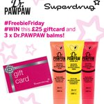 #Competition ALERT: #Win 1 £25 Voucher and 3 #DrPAWPAW balms Just RT and like to win! #FREEBIEFRIDAY #GIVEAWAY https://t.co/EA0FArThTj