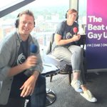 LISTEN RIGHT NOW! The lovely Chris and Emma from @Gaydio are LIVE from #Birmingham until 10am for @BirminghamPride ???? https://t.co/C3fgZWwRRj
