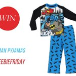 #FreebieFriday #giveaway! #Win this cool #Batman pjs for your little hero! ♥, Follow & RT to enter https://t.co/nIa9exbXDK