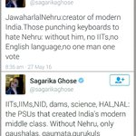 Nehrus shoe-polish @sagarikaghose didnt have to write so much. Should have just written Nehru gave birth to India https://t.co/BEYlm6NonM