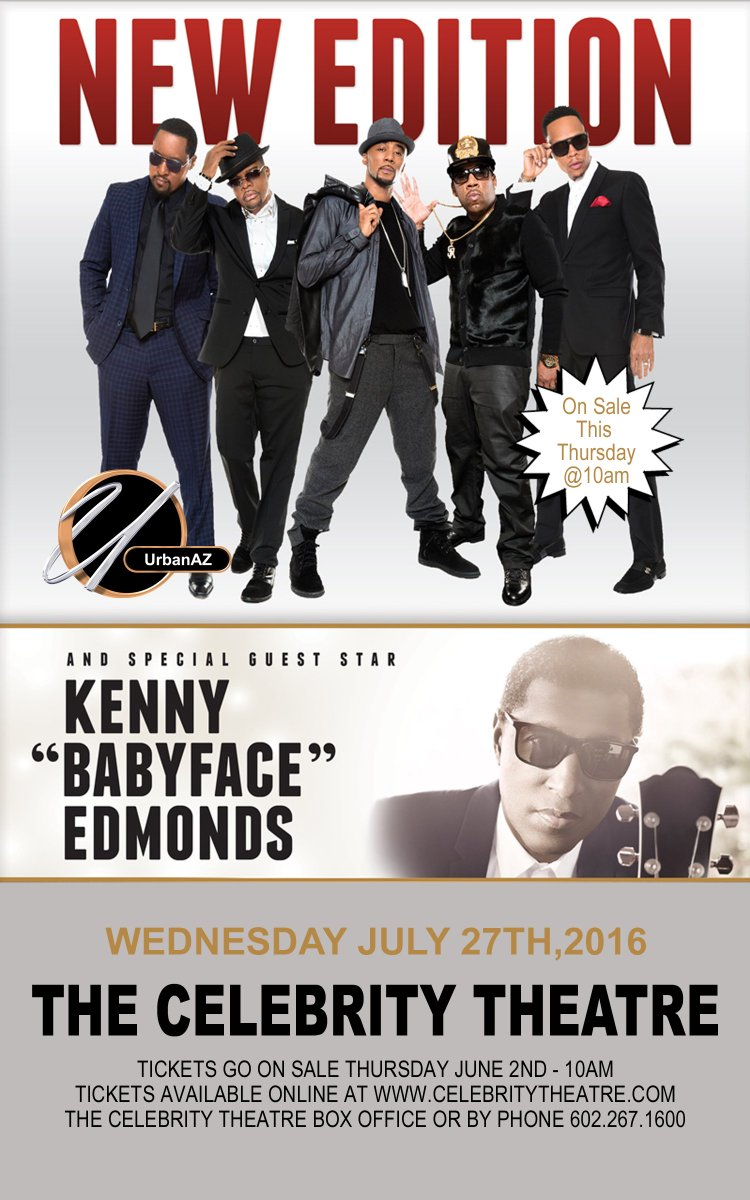 ReTweet this to win a pair of FREE Tickets 2 c @NewEdition w/ @KennyEdmonds Winner Picked on Monday May 30th. https://t.co/uDAZ0qEcih