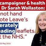 When even MPs who back Leave stop supporting Leaves lies about the #NHS.. #EURef https://t.co/lAZB0iVU5l