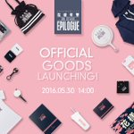 [INFO] 2016 BTS LIVE <화양연화 on stage : epilogue> goods will go on sale on the official shop on 30 May, 2PM KST https://t.co/UOrTEytxLu