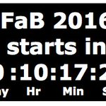 Yes folks, 10h until you can feast your eyes & drown your senses in the #FaB16 experience https://t.co/rJK6OrzSHh https://t.co/ZsPUIwfmqC