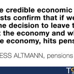 """""""All the credible forecasts"""" show Brexit will hit pensions, says Pensions Minister Baroness Altmann #EUref https://t.co/gip56fY93o"""