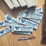 Yay! We have CSSconf Nordic stickers! Thanks to the @stickermule for such a speedy delivery when we ordered late. https://t.co/M2eOlYxNlq