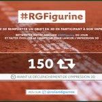 RT pour déclencher notre imprimante 3D et tentez de remporter un des trophées ! #RGFigurine #RG16 https://t.co/JUvlKxB3NV