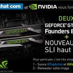 #Concours #GTX1080  Un SLI de GTX 1080 à gagner !  Follow @NVIDIAFrance & @TopAchat pour participer :-) https://t.co/soHZNw9NNV