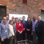 With @lucianaberger @LouiseEllman & great Red Cross team in Liverpool after good working session on refugees. https://t.co/AFclaS60Gk