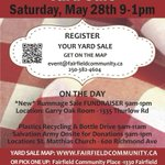 Saturday! @Fairfield_Comm #community #yardsale - new-to-you treasures thru-out the hood. #yyjevents @yyjnow https://t.co/LR0NZJZyQI