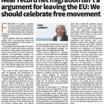 Celebrate #migration: it isnt an argument for #Brexit. @GreenJeanMEP in todays @CityAM https://t.co/Fx1lOSD6U0 https://t.co/kpYBL9w2oy