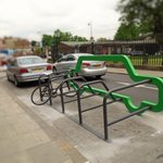 Ooooh! Check out the new Car Bike Port installed outside .@wnorwoodlibrary today! #FridayFeeling #Cycling #London https://t.co/m6lRWizj22