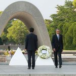 #Iran #News Obama visits Hiroshima laying a wreath at the site of the first atomic bombing https://t.co/EzDrozzCCU https://t.co/q1hmLX6PVD