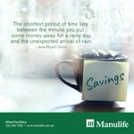 Always keep in mind: it's never wrong to begin saving for the rainy days. Have a good weekend ahead! https://t.co/GEpGWd1v4a